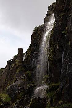 RicardMN Photography - A bright waterfall at Seydisfjordur