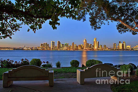 A Classic View of the San Diego Skyline by Sam Antonio Photography