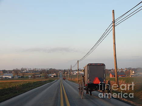 Christine Clark - A Clear Winter Evening in Amish Country