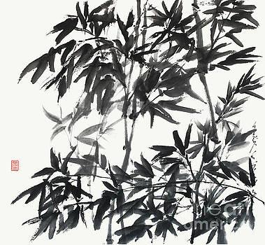 Nadja Van Ghelue - A Cooling Bamboo Grove Zen Sumi-e
