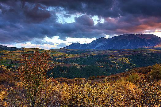 A Fall Sunset In Colorado by John De Bord