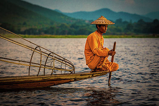 A Fisherman Of Inle Lake by Chris Lord