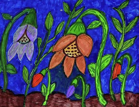 A Flower Garden by Elinor Helen Rakowski