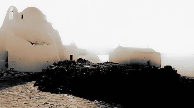 A foggy day in Mykonos by Nicholas V K