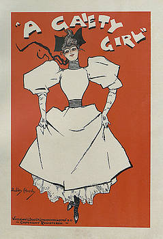 A Gaiety Girl, 1894 french vintage poster by Dudley Hardy