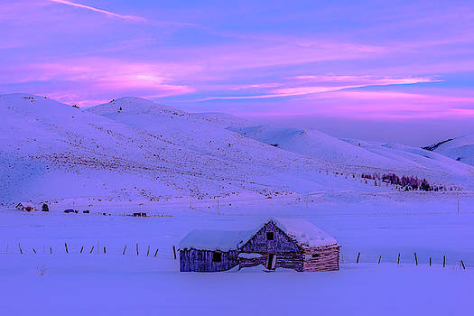 A Homesead Sunset by Barbara Hayton