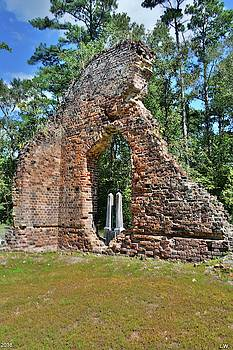 A Look Through Pon Pon Chapel Of Ease Jacksonboro South Carolina Vertical by Lisa Wooten