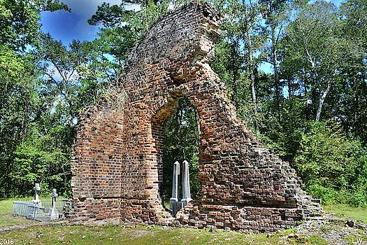 A Look Through Pon Pon Chapel Of Ease Jacksonboro South Carolina by Lisa Wooten
