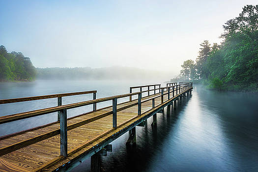 A Pond And A Pier  by Jordan Hill