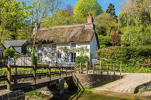 David Ross - A pretty thatched Cottage, Helford, Cornwall