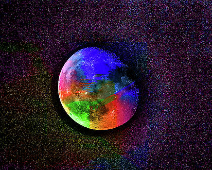 A Rainbow Scented Moon Number 16 by Ben Stein