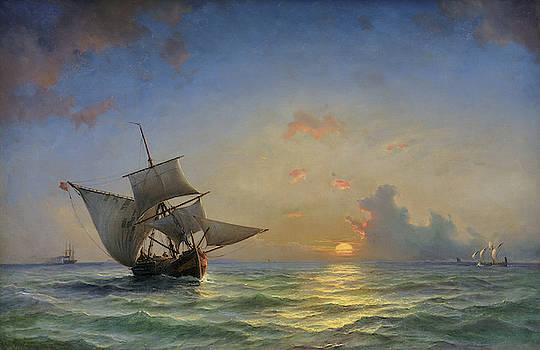 Anton Melbye - A Seascape