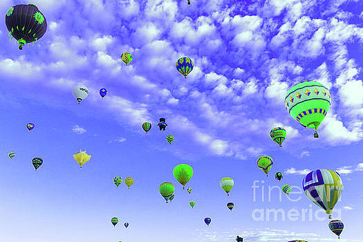A sky full of balloons by Jeff Swan