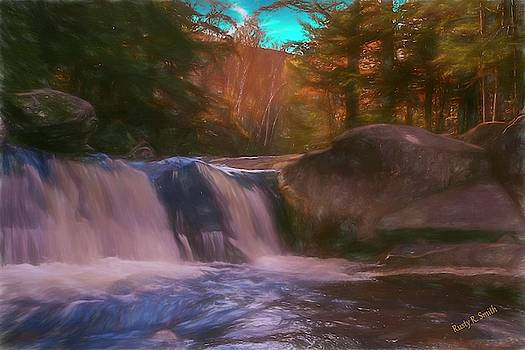 A small New England waterfall. by Rusty R Smith