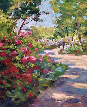 A Spring Walking Path by David Lloyd Glover
