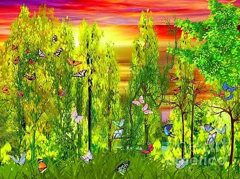 A Sunset In THe Butterflly Glen by Debra Lynch