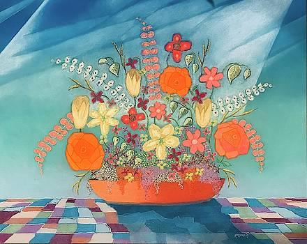 A Vase of Flowers V by Harvey Rogosin