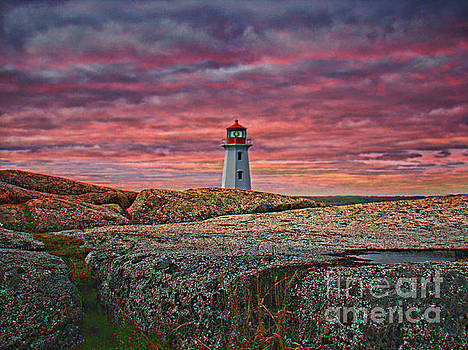 A View At Peggy's Cove, NS, Canada II by Al Bourassa