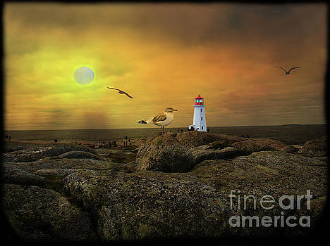 A View At Peggy's Cove, NS, Canada IV by Al Bourassa