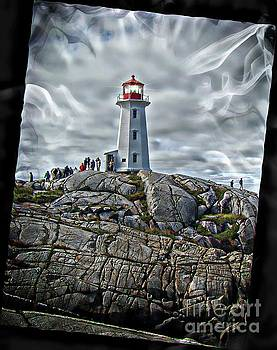 A View At Peggy's Cove, NS, Canada V  by Al Bourassa