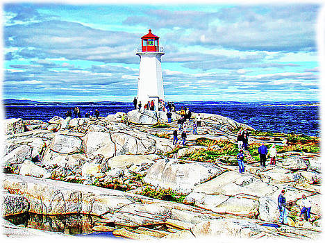 A View At Peggy's Cove, NS, Canada VI by Al Bourassa