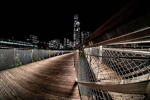 A view from the new south riverwalk in Chicago by Sven Brogren