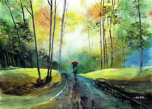 A walk in the rain by Anil Nene