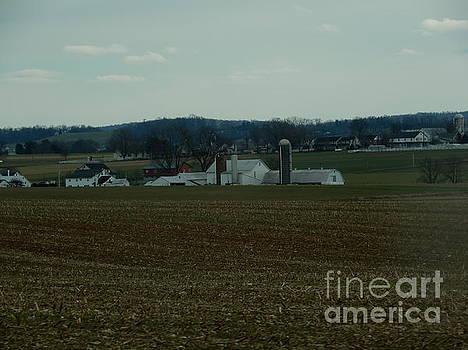 Christine Clark - A Winter Amish Homestead View