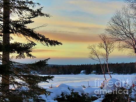 A winter sunset by Brenda Ketch