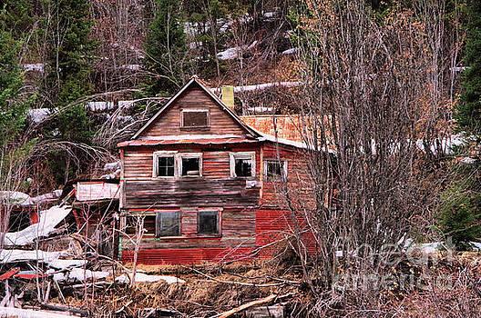 Abandoned mining house burke canyon Idaho by Jeff Swan