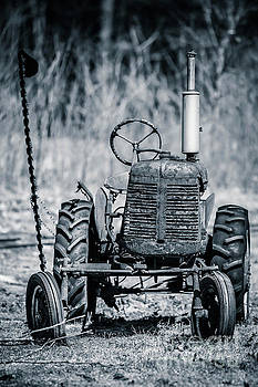 Abandoned Old Farm Tractor by Edward Fielding
