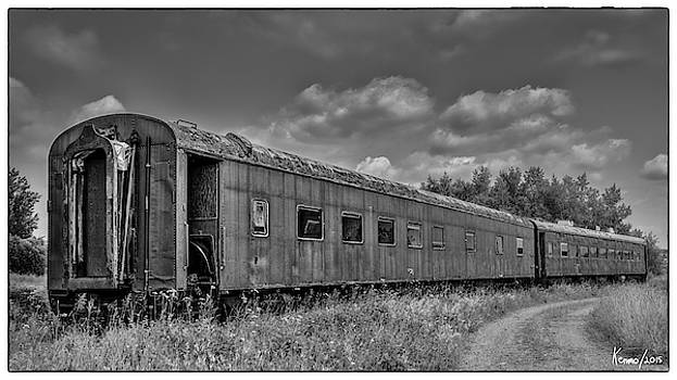 Abandoned Railroad Car in Rural New Brunswick by Ken Morris