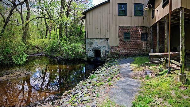 Abbott's Mill Back View Pano by Brian Wallace