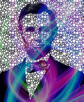 Abe Lincoln Bubble Modern ART by Robert R Splashy Art Abstract Paintings