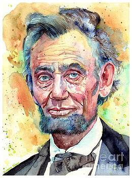 Abraham Lincoln Portrait by Suzann Sines