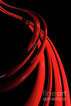 Benjamin Harte - Abstract Red Spiral 2