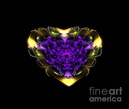 Abstract Art Heart Purple Gold by VivianFitArt