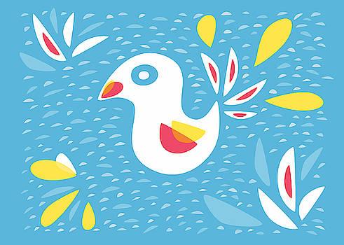 Abstract Bird In Spring by Boriana Giormova