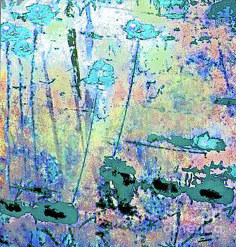 Sharon Williams Eng - Abstract Blue Swamp Flowers 300