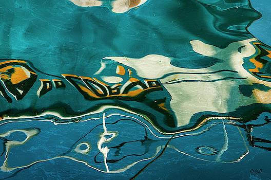 Abstract Boat Reflection V Color by David Gordon
