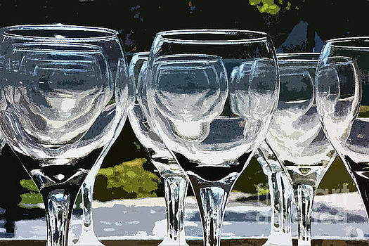 Sharon Williams Eng - Abstract Clear Stemware Photo Painting