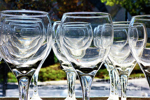 Sharon Williams Eng - Abstract Clear Stemware