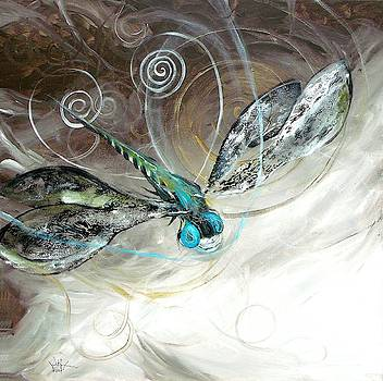 Abstract Dragonfly, Three by J Vincent Scarpace