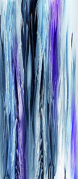 Abstract Flowing Waterfall Lines I by Irina Sztukowski