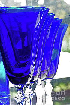 Sharon Williams Eng - Abstract Glasses in Blue 300