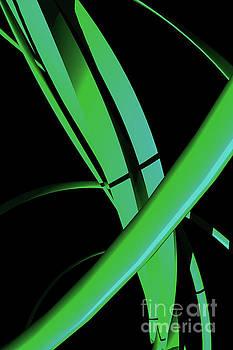 Benjamin Harte - Abstract Green Spiral