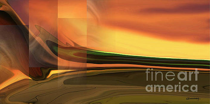 Abstract landscape by Christian Simonian