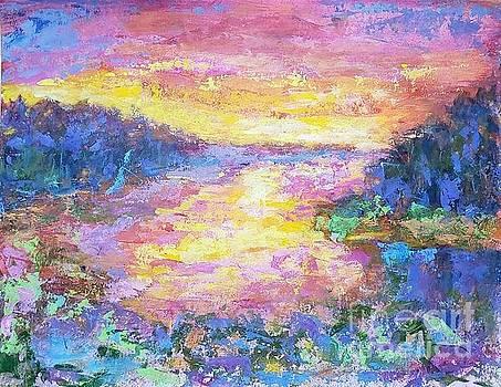 Abstract landscape by Olga Malamud-Pavlovich