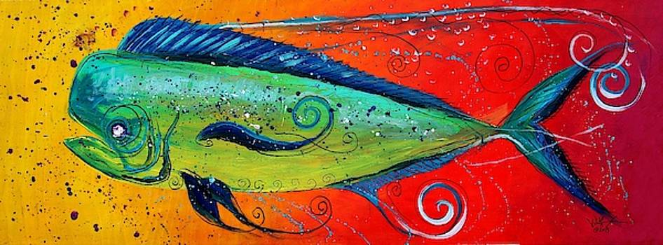 Abstract Mahi Mahi by J Vincent Scarpace
