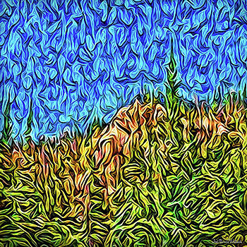 Abstract Mountain Radiance by Joel Bruce Wallach